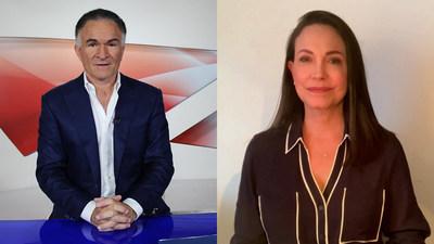 Dionisio Gutiérrez talks with María Corina Machado