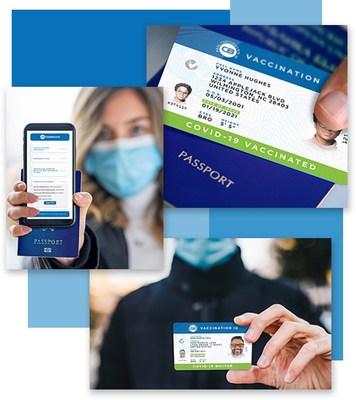 CastleBranch's Real Vaccination ID COVID-19 Vaccine and Waiver Cards (PRNewsfoto/CastleBranch)