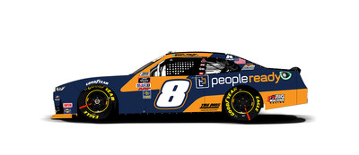 PeopleReady, a TrueBlue company, will serve as the primary sponsor of JR Motorsports' Sam Mayer as he takes the wheel of the #8 PeopleReady Chevrolet Camaro in this Friday's NASCAR Xfinity Series Wawa 250.