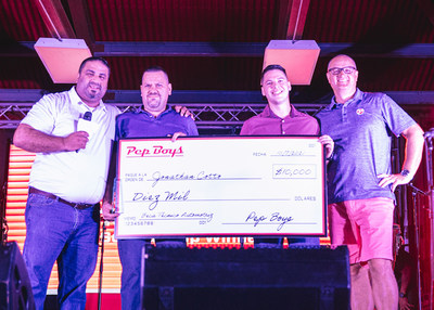 Jonathan Cotto, a Pep Boys employee and student at Mech-Tech College, was presented with a $10,000 scholarship during the #PepBoysRoadTrip Puerto Rico event. Pep Boys recently announced the 15 recipients of its annual Find Your Drive $100,000 scholarship program.