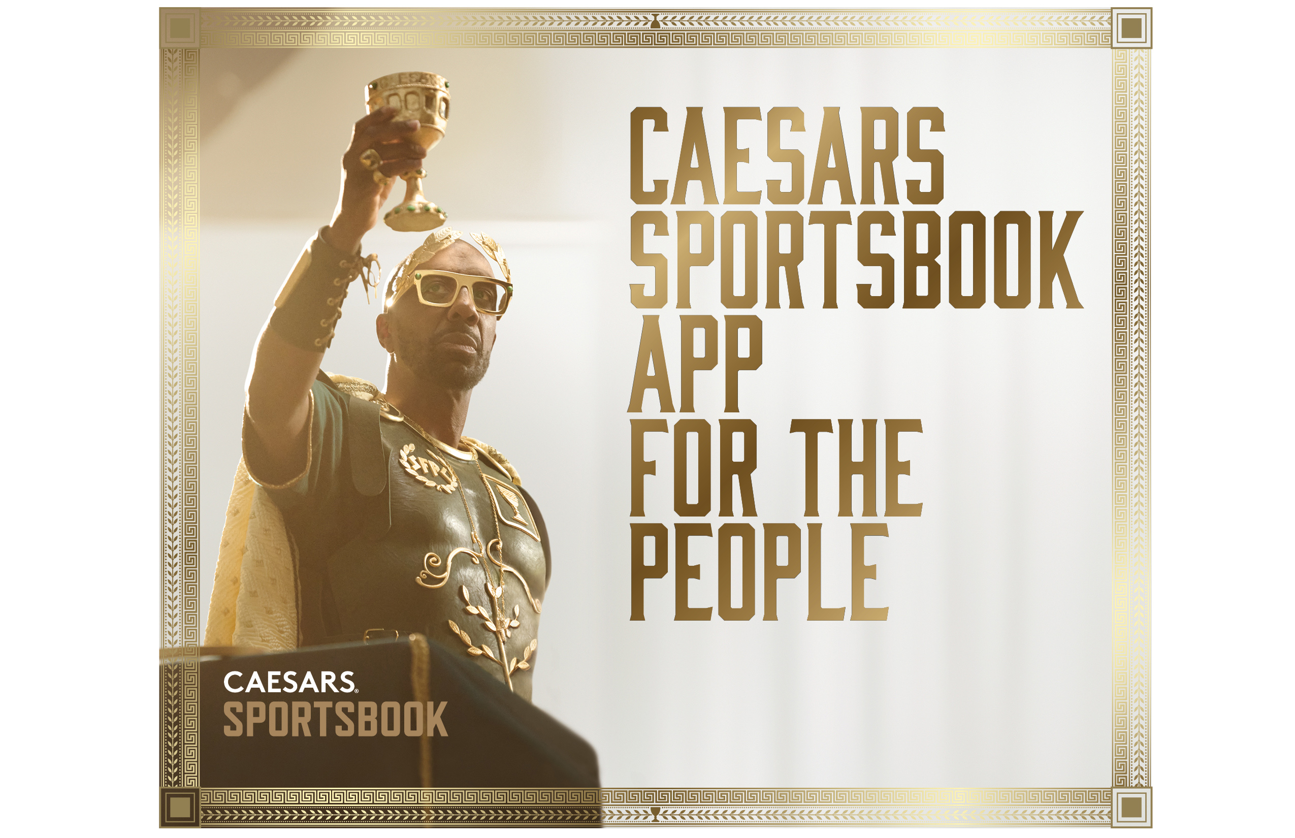Caesars Sportsbook is the app for the people, Caesar raises his goblet.