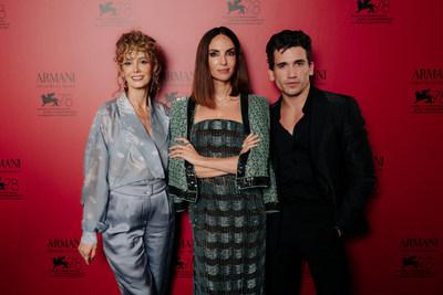 Esther Acebo, Eugenia Sylvia and Jaime Lorente at the Armani beauty dinner
