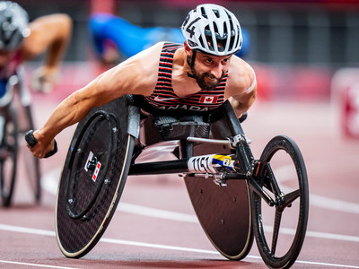 Wheelchair racing superstar Brent Lakatos (Dorval, QC) has been named Canada's Closing Ceremony flag bearer for the Tokyo 2020 Paralympic Games. (CNW Group/Canadian Paralympic Committee (Sponsorships))