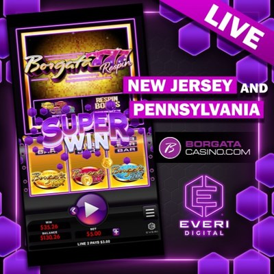 """Everi partners with BetMGM to launch the custom-themed game """"Borgata 777 Respin."""""""
