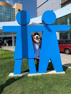 PAWS visits Children's Hospital of Michigan to honor pediatric cancer patients on August 31, 2021.
