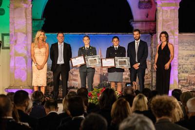 """Valentina Rodini and Federica Cesarini, winners of the Special Award """"L'Italia nel cuore"""" (Italy in the Heart) (PRNewsfoto/Menarini I.F.R.)"""